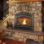 864 HO Gas Insert Fireplace by Fireplacex